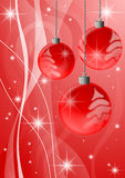 Christmas background. A computer generated red christmas background with balls royalty free illustration