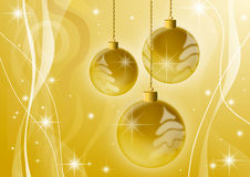 Christmas background. A computer generated golden christmas background with balls royalty free illustration