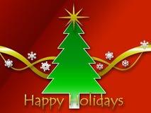 Christmas background. A Christmas background saying happy holidays Royalty Free Stock Image
