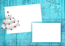 Christmas background. Framework for a photo or invitations. Christmas background stock illustration