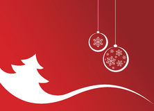 Christmas background. With tree and balls Stock Photo