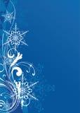 Christmas background. Blue christmas background with snowflakes Stock Photography