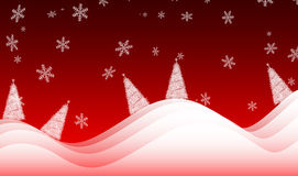 Christmas background. Abstract christmas background with firs Stock Photo