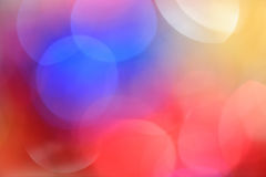 Christmas background. Unfocused multi-colored background with blue, yellow and red colors Stock Images