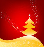 Christmas Background. Christmas tree greeting card background vector illustration