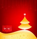 Christmas Background. Christmas tree greeting card background royalty free illustration