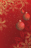 Christmas background. Red shiny christmas background with snowflakes Royalty Free Stock Image