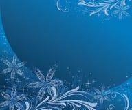 Christmas background. In blue palette vector illustration