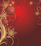 Christmas background. Abstract christmas background in red palette royalty free illustration