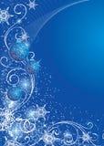 Christmas background. Blue christmas background with evening balls vector illustration