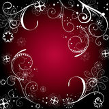 Christmas background. Christmas design on red background Royalty Free Illustration