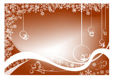 Christmas background. Abstract  background with Christmas balls,  bubbles, and abstract snowflakes Stock Photo