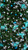 Christmas Background. Photo of Christmas tree decorations as a background Stock Image