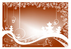Christmas background. Abstract  background with Christmas balls,  bubbles, and abstract snowflakes Royalty Free Stock Photo