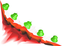 Christmas background. Design in red and green Stock Illustration