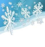 Christmas Background. Abstract christmas background with snowflakes and a space for text stock illustration