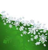 Christmas Background. Abstract christmas background with snowflakes and a space for text Stock Photography