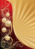 Christmas background. Red and gold christmas background stock illustration