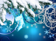 Christmas background. Festive Christmas background with sparkles Royalty Free Stock Photo