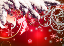 Christmas background. Festive Christmas background with sparkles Stock Images