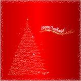 Christmas background. Vector shiny happy christmas background Stock Photos