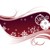 Christmas Background. Of snows, ornaments and curls designs Royalty Free Stock Images
