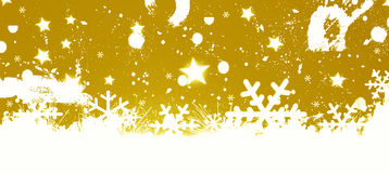 Christmas Background. Abstrac gold snow Christmas Background Stock Images