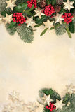 Christmas Background Abstract Border Stock Image