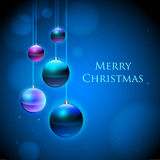 Christmas background. Abstract decorative Christmas blue background vector illustration