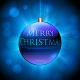 Christmas background. Abstract decorative christmas blue background stock illustration