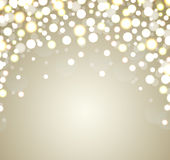 Christmas Background. Abstract golden defocused ba Stock Photo