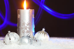 Christmas background with abstract lighting effect Stock Photos