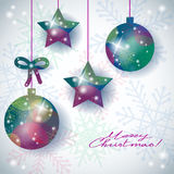 Christmas background with abstract ornaments and text Royalty Free Stock Photos