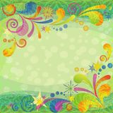 Christmas background with abstract patterns Stock Photo