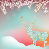 Christmas background with abstract reindeer. EPS 8 Stock Image