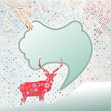 Christmas background with abstract reindeer. EPS 8 Stock Photos