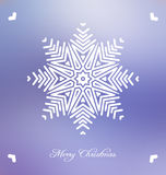 Christmas background with abstract snowflake Stock Photos