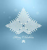 Christmas background with abstract snowflake Royalty Free Stock Images
