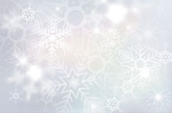 Christmas background with abstract snowflakes Stock Images