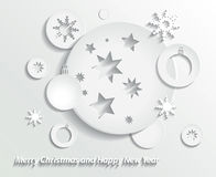 Christmas background. Abstract Christmas background with star, snowflake Royalty Free Stock Photos