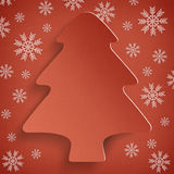 Christmas background - abstract xmas tree Stock Image
