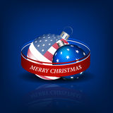 Christmas  background in american style with bauble Royalty Free Stock Images
