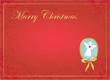 Christmas background with angel. Simple christmas background - angel with heart Stock Images