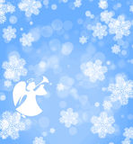 Christmas background with angel Royalty Free Stock Photos