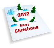 Christmas background with application Royalty Free Stock Image
