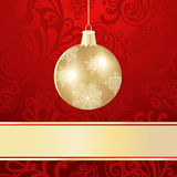 Christmas background with  ball. Christmas background with golden ball Royalty Free Stock Photos