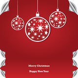 Christmas background with ball Royalty Free Stock Image