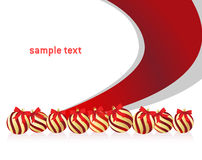 Christmas background with ball Stock Images
