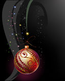 Christmas background with ball Stock Photography