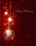 Christmas background with ball Royalty Free Stock Images